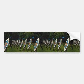 Archery targets near Brentwood, Essex, U.K. Car Bumper Sticker