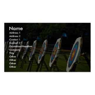 Archery targets near Brentwood, Essex, U.K. Business Card