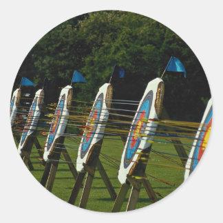 Archery targets near Brentwood, Essex, U.K. Classic Round Sticker