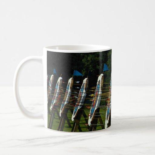 Archery targets near Brentwood, Essex, U.K. Coffee Mug