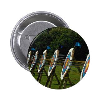 Archery targets near Brentwood, Essex, U.K. Pinback Button