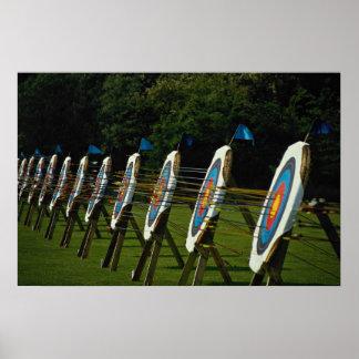 Archery targets near Brentwood, Essex, U.K. Poster