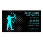 Archery targets training custom business cards