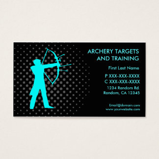 Archery targets training custom business cards