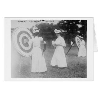 Archery Tournament in Boston, MA Photograph Card