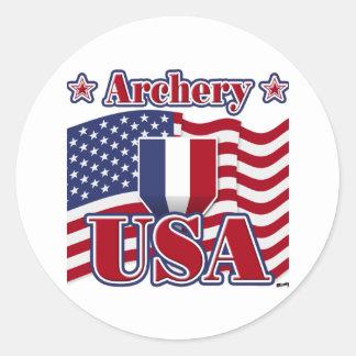 Archery USA Classic Round Sticker