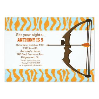 Archery With Colorful Camo Birthday Invitation