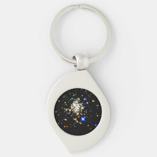 Arches Cluster Silver-Colored Swirl Metal Keychain