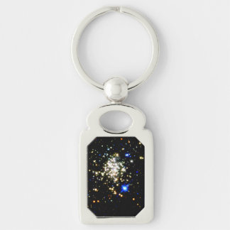 Arches Cluster Silver-Colored Rectangular Metal Keychain