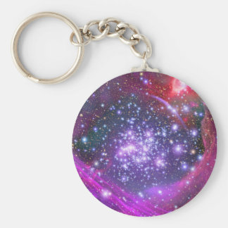 Arches Cluster the Densest Milky Way Star Cluster Basic Round Button Keychain