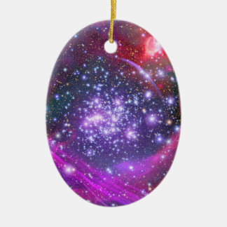 Arches Cluster the Densest Milky Way Star Cluster Double-Sided Oval Ceramic Christmas Ornament