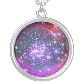 Arches Cluster the Densest Milky Way Star Cluster Round Pendant Necklace