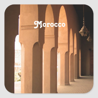 Arches in Morocco Square Sticker