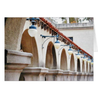 Arches Lamps Greeting Cards