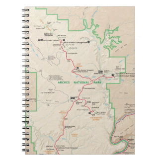Arches map notebook