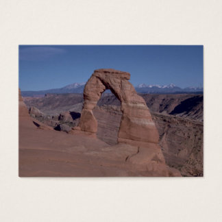 arches national park arch on side of cliff business card