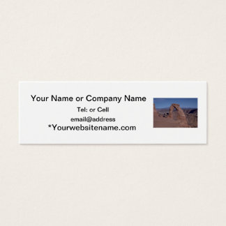arches national park arch on side of cliff mini business card