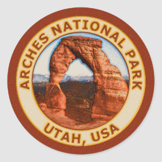 Arches National Park Classic Round Sticker