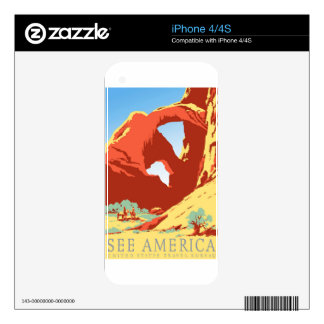 Arches National Park Colorado co Vintage Travel Decals For iPhone 4S