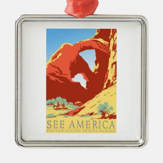 Arches National Park Colorado co Vintage Travel Metal Ornament