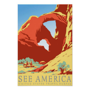 Arches National Park Colorado Co Vintage Travel Poster at Zazzle