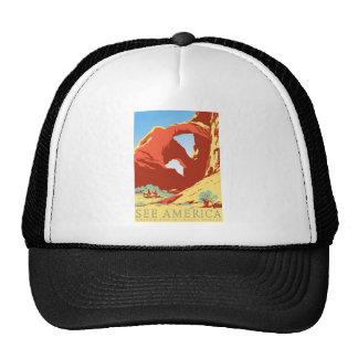 Arches National Park Colorado co Vintage Travel Trucker Hat