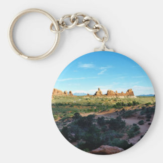 Arches National Park from a distance Basic Round Button Keychain