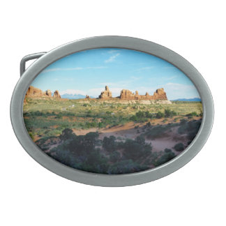 Arches National Park from a distance Belt Buckle