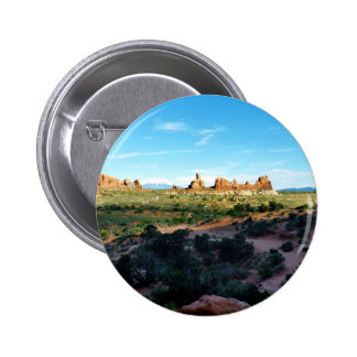 Arches National Park from a distance Pinback Button