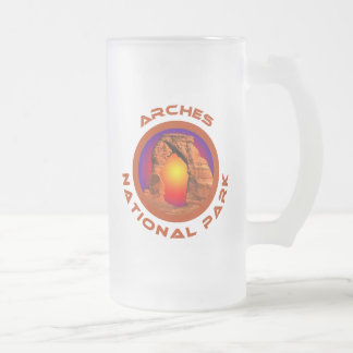 Arches National Park Frosted Glass Beer Mug