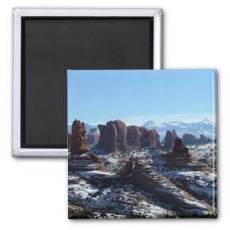 Arches National Park in Winter - magnet