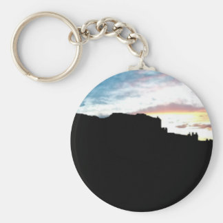 Arches National Park La Sal Mountains Viewpoint Su Basic Round Button Keychain