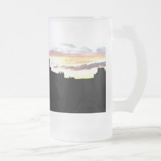 Arches National Park La Sal Mountains Viewpoint Su Frosted Glass Beer Mug