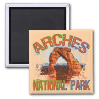 Arches National Park 2 Inch Square Magnet