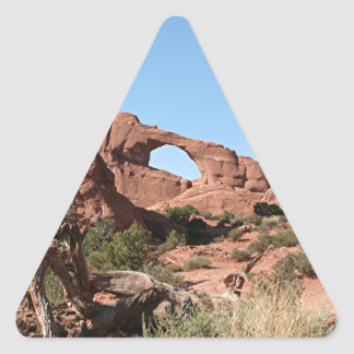 Arches National Park, near Moab, Utah, USA Triangle Sticker