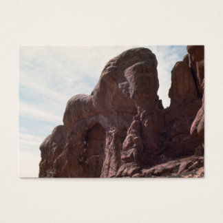 arches national park rock formation business card