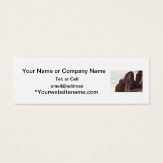 arches national park rock formation mini business card