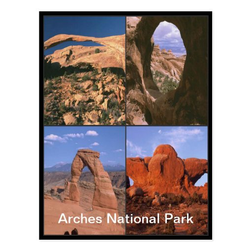 Arches National Park Sandstone Aches Collage Postcard