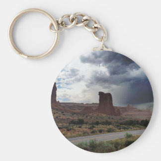 Arches National Park Sheep Rock Basic Round Button Keychain