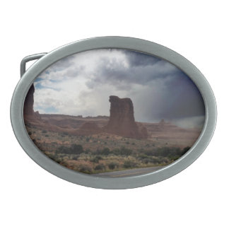Arches National Park Sheep Rock Oval Belt Buckle