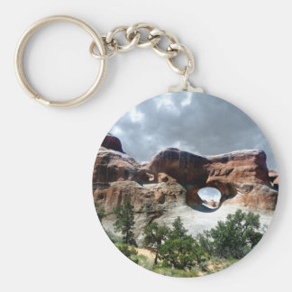 Arches National Park South window from the Back Basic Round Button Keychain