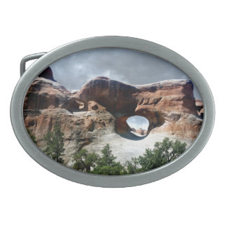 Arches National Park South window from the Back Oval Belt Buckle