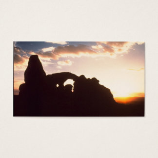 arches national park sunrise business card