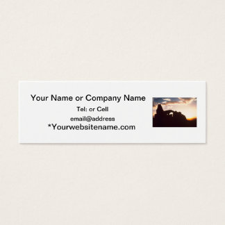 arches national park sunrise mini business card