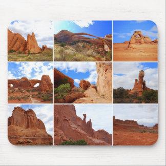 Arches National Park, Utah, Collage Mousepad