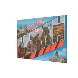 Arches National Park, Utah - Large Letter Stretched Canvas Prints