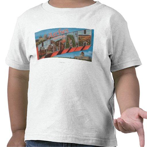 Arches National Park, Utah - Large Letter Tshirt