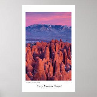 Arches National Park, Utah Sunset Print
