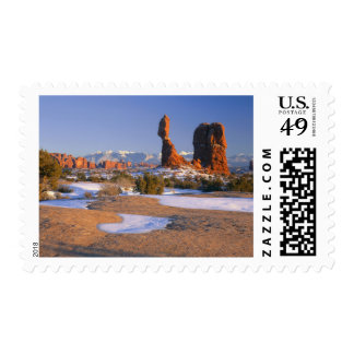 ARCHES NATIONAL PARK, UTAH. USA. Balanced Rock Postage