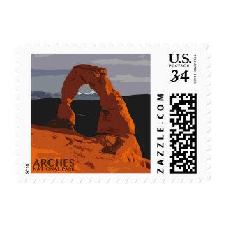 Arches National Park Utah Vintage Postage Stamps
